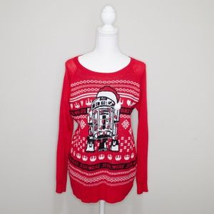 Star Wars R2D2 Ugly Christmas Sweater Size Large
